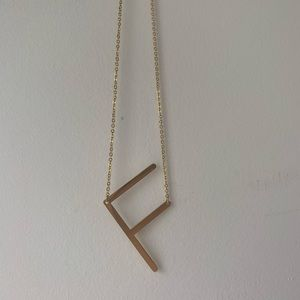 Jewelry - F Initial Necklace